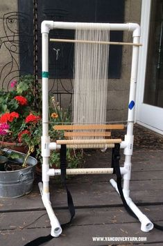 Needlework Projects 25 PVC Projects for Your Homestead @ Momwtihaprep - 25 PVC Projects for Your Homestead @ Momwithaprep Pvc Pipe Crafts, Pvc Pipe Projects, Weaving Projects, Yarn Crafts, Lathe Projects, Rug Loom, Loom Weaving, Inkle Loom, Hand Weaving