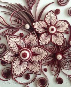 Картина панно рисунок Мастер-класс Квиллинг Фантазийный цветок Бумажные полосы Клей фото 27
