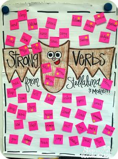 Stellaluna Strong Verbs. Good for any class read along book!