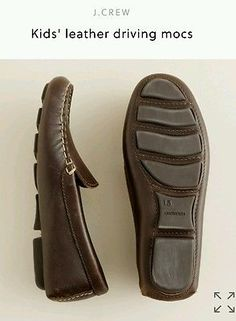 JCrew Crewcuts Italian Leather driving moccasins youth size 3