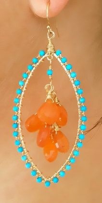 ALLORA Dea Turquoise and Carnelian Moroccan Gemstone by luxdivine, $70.00
