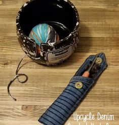 Upcycled Denim Crochet Hook Case Crochet Hook Case, Crochet Hooks, Make A Case, Denim Patchwork, Recycled Denim, Valentine Day Gifts, Crochet Projects, Upcycle, Challenge