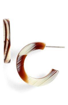 L. Erickson 'Skinny' Mini Hoop Earrings available at #Nordstrom