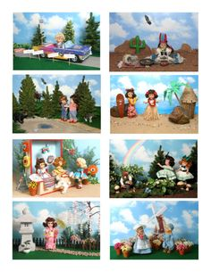 Vintage Ginny Doll 'Vacations' Greeting Cards