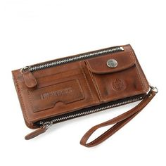 Men's gifts vintage leather Vertical bifold wallets purse with removable zip pocket · Vintage rugged canvas bags · Online Store Powered by Storenvy Briefcase For Men, Leather Briefcase, Leather Backpack, Leather Wallet, Men's Leather, Custom Leather, Laptop Backpack, Leather Craft, Leather Crossbody