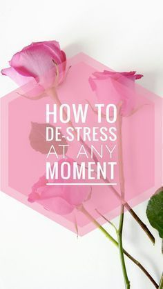 Simple things you can do to de-stress at any moment! Reminded me to take some time for myself and enjoy life stress free. Read it now and you can pin it for later!