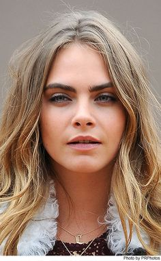 Cara Delevingne Wearing Burberry Prorsum Shearling Lined Jacket