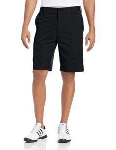 adidas Golf Mens Flat Front Shorts BlackLead 32Inch -- Check out the image by visiting the link.