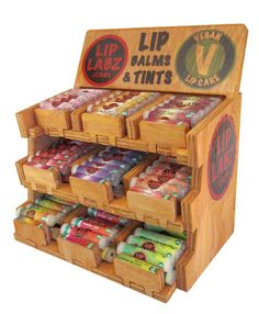 """Want to make display case like this for all the girls """"LIP CRAVE FAVS"""" not just one brand, but ALL of them, for front of Our Gift Shop!"""