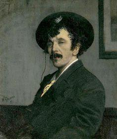 Portrait of James Abbott McNeill Whistler by Walter Greaves (UK)