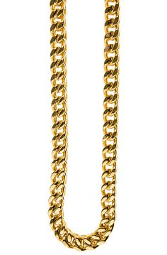 10mm Chunky Franco 30 in Chain Necklace (Gold)