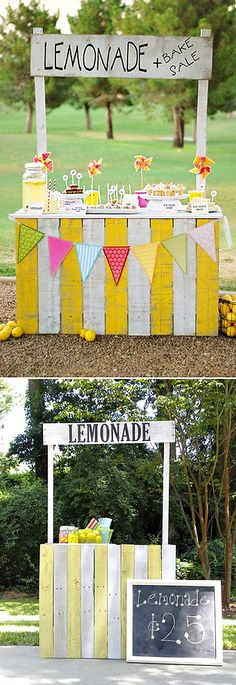 10 summer fun diy lemonade stands lemonade stand лимонад, лимонадный бар и Cool Diy, Fun Diy, Easy Diy, Festa Party, Bake Sale, Summer Activities, Toddler Activities, Time Activities, Photography Props