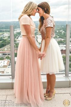 Bandie Sequin Top Bridesmaid Sequin Top with short slee. - Bandie Sequin Top Bridesmaid Sequin Top with short sleeves. Available in gold sequins, black sequins, and more! Source by - Two Piece Bridesmaid Dresses, Tulle Skirt Bridesmaid, Bridesmaid Separates, Prom Dresses, Wedding Dresses, Wedding Skirt, Bridesmaids, Wedding Guest Separates Outfit, Skirt For Wedding Guest