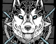 """Check out new work on my @Behance portfolio: """"Pride of Siberia / Husky"""" http://on.be.net/1YHYEZ8"""