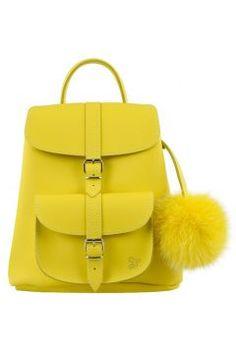Grafea Women's Sunny Fur Pom Backpack - Yellow(13168594)