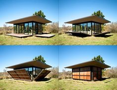 Olson Kundig Architects' Transforming Micro Cabin Folds Up to Protect Against the Elements /The ultimate lock-up home!! /  Great for a holiday cabin