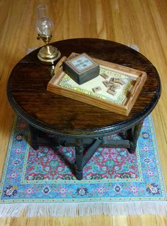 Reutter porzellan petit salon table//wood coffee table poupée 1:12