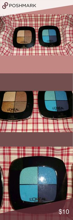 Loreal Paris Colour Riche Pocket Palette Eye Shado Boudoir Charme 106 & Avant Garde Azure 112  This listing includes 2 eye shadows in the colors that are listed. I have multiple listings with different colors. L'Oreal Makeup Eyeshadow