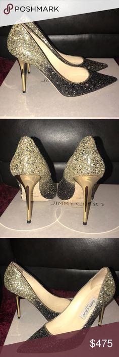aeaa28bb66b9 Jimmy Choo metallic Pumps Jimmy Choo Glitter Ombré Pump Size Never worn Box  and dust bags Jimmy Choo Shoes Heels · Nude PumpsBlack ...