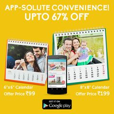 """Get yourself a Desktop Calendar on the ZoomIn App at the BEST price of year. Not only is it quick and easy, but it will bring a lot more happiness to your desk at less than half the price. Select offer from the """"View all Offers"""" tab and get upto 67% off on your calendar by January 19"""