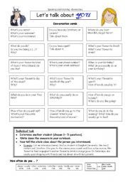 English worksheet: Let´s talk about YOU