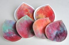 Hand Dyed Flannel Nursing Pads PLUS milkstops by HomesteadEmporium, $27.85