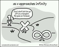 Smart Humor: http://www.pinterest.com/mathfilefolder/math-jokes-humor/ #MathHumor #MathJokes ad infinitum