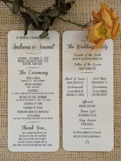 Wedding programs that double as thank-you notes! {Dreamlife Photos & Video}