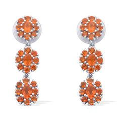 Liquidation Channel | Jalisco Fire Opal Earrings in Platinum Overlay Sterling Silver (Nickel Free)