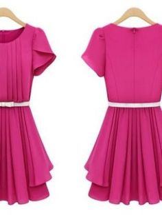 PRETTY IN PINK- DAY DRESS,  Dress, chic  dresses  fashion, Chic: