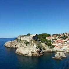 Blue blue sea of Dubrovnik, Croatia