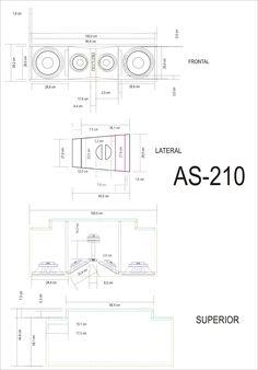 10 AS 210 lineales 7 Pro Audio Speakers, High End Speakers, Diy Speakers, Audio Amplifier, Built In Speakers, Subwoofer Box Design, Speaker Box Design, Klipsch Speakers, Woofer Speaker