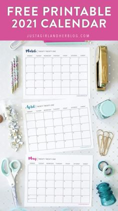 This free printable 2021 calendar will become your most favorite organizing tool! Plan your schedule, organize events, manage your goals, keep track of activities, and more!   #freeprintable #printablecalendar #calendarprintables