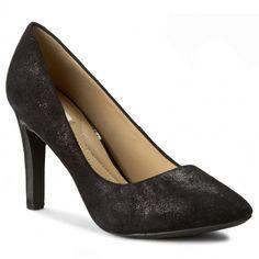 Pantofi cu toc subțire GEOX - D Caroline A D42W1A 000MA C9999 Negru