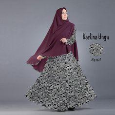 Baju Muslim Gamis Syar'i Modern Karlina Ungu - http://warongmuslim.com/baju-muslim-gamis-syari-modern-karlina-ungu/