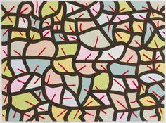 Thomas Nozkowski 2014. oil on paper.