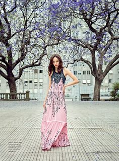 Luma Grothe Models Breezy Spring Fashion in Air France Madame February 2016 - Louis Vuitton Spring 2016