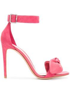 ALEXANDER MCQUEEN   bow detail heeled sandals #Shoes #ALEXANDER MCQUEEN