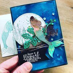 Love, Kayla: Have a Magical Birthday - Magical Mermaid Card Making Inspiration, Making Ideas, Easy Magic Tricks, Nautical Cards, Fantasy Mermaids, Vintage Mermaid, Card Tricks, Stamping Up Cards, Hero Arts