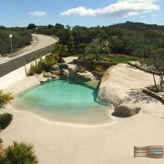 Sand Pool Beach Entry Pool, Beach Pool, Backyard Creations, Farm Projects, Plunge Pool, Swimming Pools Backyard, Pool Houses, Pool Designs, Strand