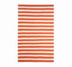 Draper Stripe Rug in Persimmon and Cream 2.5' x 9' Sale Price - $120.00