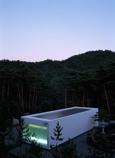 above ground pool. Takashi Yamaguchi & Associates