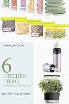6 kitchen items I use every single week that you most likely don't have now, but should! Healthy Side Recipes, Quick Healthy Meals, Healthy Sides, Kitchen Items, Kitchen Gadgets, Olive Oil Sprayer, Growing Peppers, Olive Oil Dispenser, Quick Side Dishes
