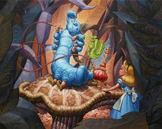 Greg McCullough: Alice in Wonderland (Disney) Alice In Wonderland Artwork, Alice In Wonderland 1951, Adventures In Wonderland, Art Beat, Disney Kunst, Were All Mad Here, Lewis Carroll, Chenille, Princesas Disney