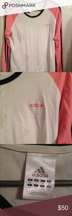 Long Sleeve Vintage Adidas tee SO CUTE. New without tags. Very rare tee. Price is firm! adidas Tops Tees - Long Sleeve