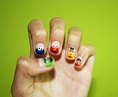Sesame Street nails.