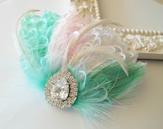 Bridal Hairpiece Feather Fascinator Wedding by parfaitplumes, $35.00