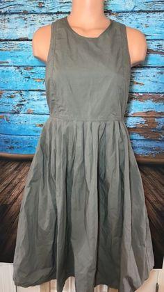 Gap Women's Brown Taupe Cotton Dress Sz 6 Pockets Sleeveless | eBay