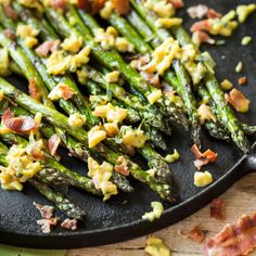 Grilled Asparagus with Bacon Vinaigrette Vinaigrette, Asparagus Bacon, Summer Bbq, Kung Pao Chicken, Pasta Salad, Green Beans, Grilling, Good Food, Food And Drink