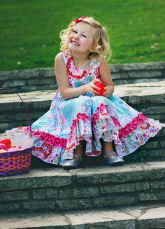 Celebration Dress Cotton Candy Sizes 1 2 3 4 5 6 by HotFudge, $69.00